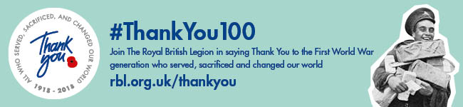 British Legion #ThankYou100